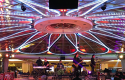 360 degree stage with audio installation by clair brothers
